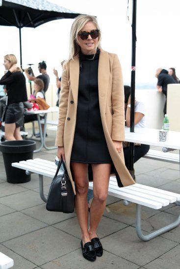 Образ с лоферами и пальто