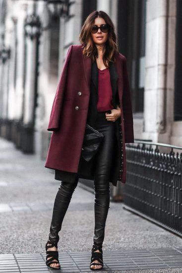 Легинсы с пальто