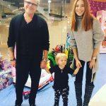 Наталья Подольская с сыном и мужем