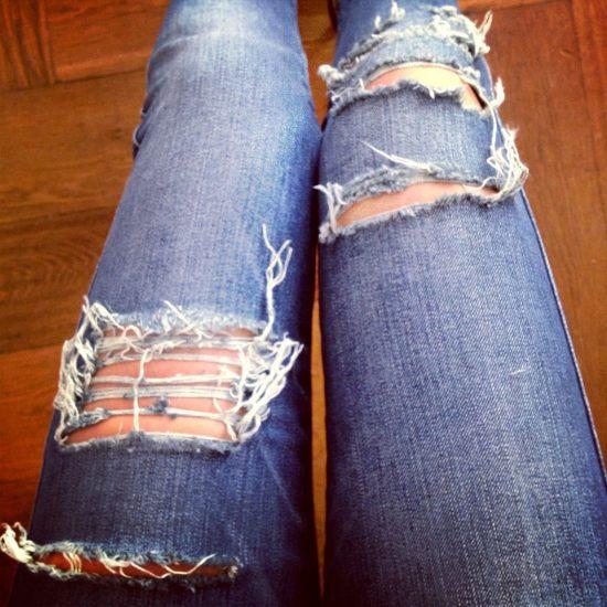 Декор на джинсах