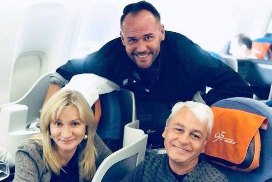 Максим Аверин на борту самолёта