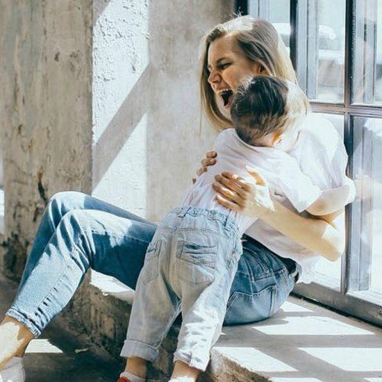 Дарья Мельникова с сыном Артуром