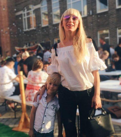 Марина Катеринец с сыном