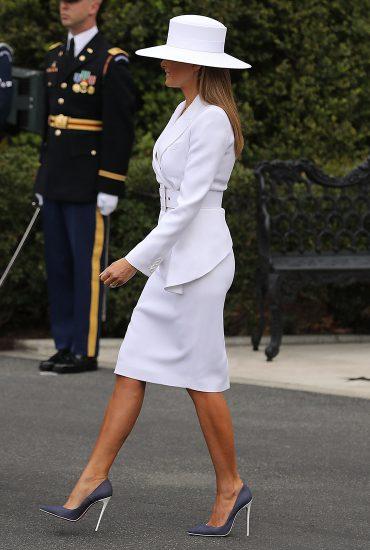 лучшие наряды мелании трамп