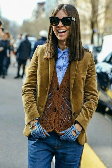 с чем носить пиджак осенью