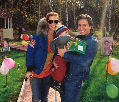 Оскар Кучера с супругой Майей