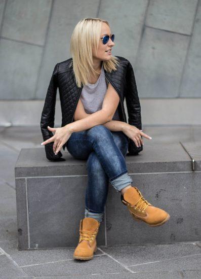 с чем носить ботинки на шнуровке осенью