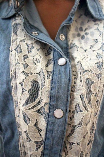 как украсить джинсовую рубашку своими руками