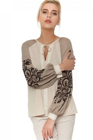 комбинированные блузки из разных тканей