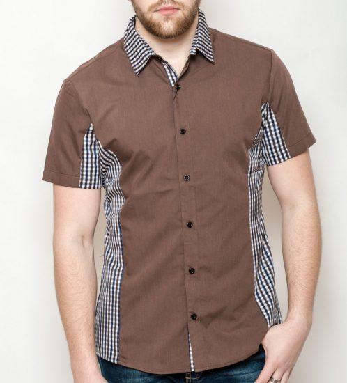 Мужская рубашка со вставками