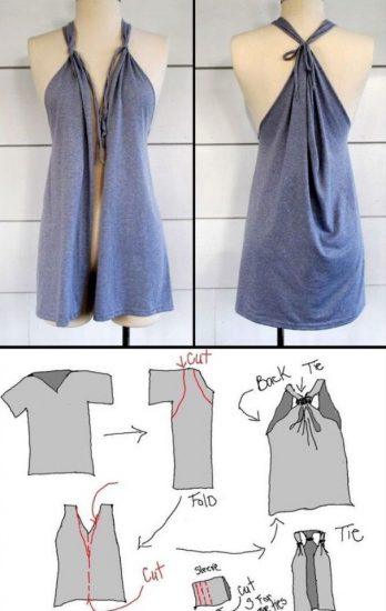 что можно сделать из большой футболки