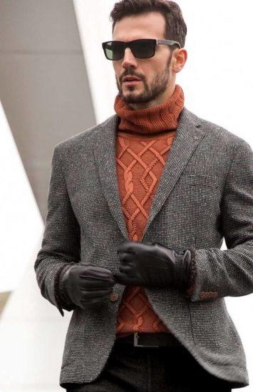 Мужчина в твидовом пиджаке
