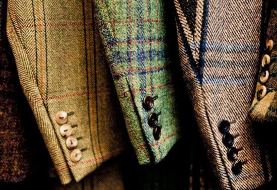 рукава твидовых пиджаков