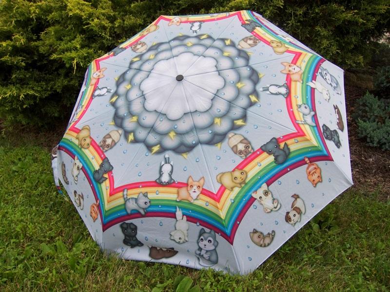 Яркие зонты с нелепыми принтами